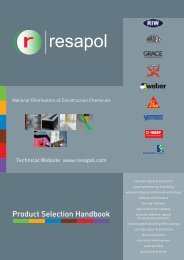 Click here to download the latest Product Selection - Resapol