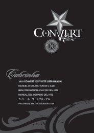 2010 CONVERT IDS™ KITE USER MANUAL MANUEL ... - Cabrinha