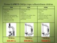 Firmas LAMCO (Itālija) riepu vulkanizēšanas iekārtas - MC Rolls