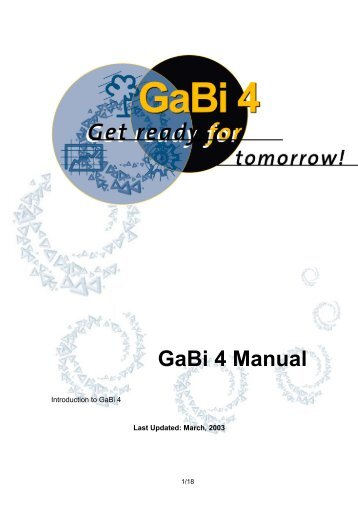 GaBi 4 Manual - OCW UPM
