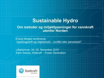 Sustainable Hydro - Energi Norge