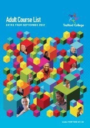 Adult Course List - Trafford College