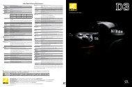 Nikon Digital SLR Camera D3 Specifications