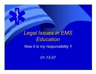 Legal Issues in EMS Education