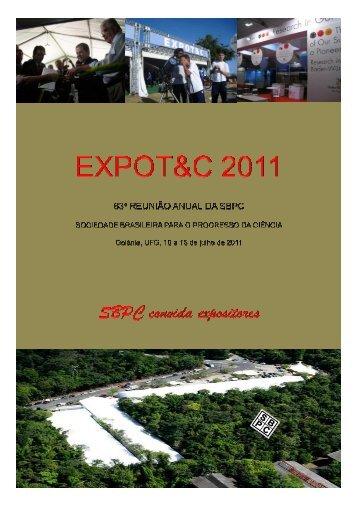 SBPC CONVIDA EXPOSITORES 2011 - Sociedade Brasileira para ...