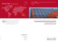 Photovoltaik-Dachsysteme - Belectric.com