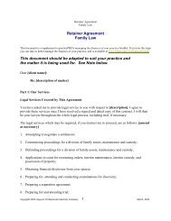 retainer Letter Family - practicePRO.ca
