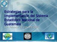 Estrategias para la Implementación del Sistema ... - Paris21