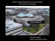 North Carolina Department of Administration ... - NC Project Green