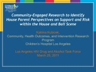 Community-Engaged Research to Identify House Parent Perspectives