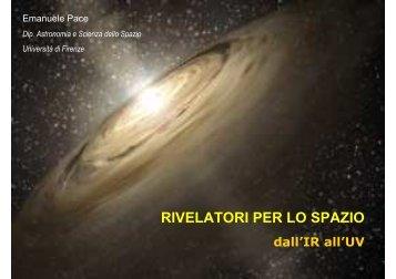 RIVELATORI PER LO SPAZIO - SIRAD page