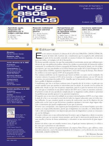 Cirugía Casos Clínicos. Volumen 2. Número 1