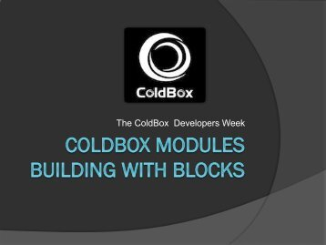 The ColdBox Developers Week - Computer Know How