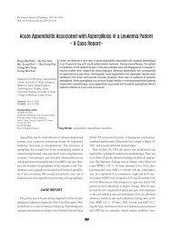 Acute Appendicitis Associated with Aspergillosis in a Leukemia Patient