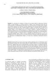 caracterización mecánica de una aleación de wolframio. efecto de ...