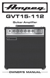 GVT15-112 Manual - Ampeg