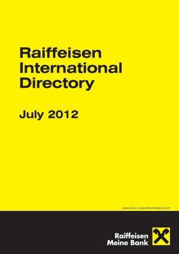 raiffeisen trade promotion service - Raiffeisen Bank International AG