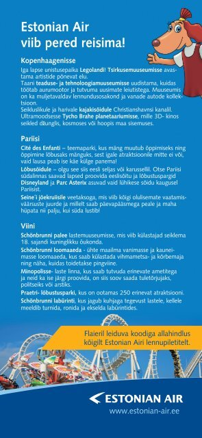 Estonian Air viib pered reisima! - Vanemuine
