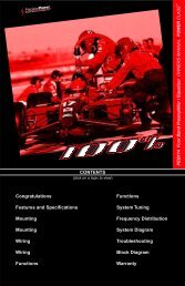 CONTENTS Congratulations Functions Features ... - Precision Power