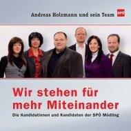 Klicken Sie auf das Bild um Kandidatinnenliste  der - SPÖ Mödling