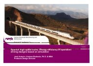 Spanish high speed trains. Energy efficiency in operation: driving ...