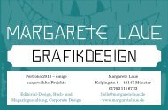 einige ausgewählte Projekte Editorial-Design, Buch - Margarete Laue