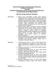 KMA No. 1 Tahun 2003 Tentang Pedoman ... - Kemenag Sultra
