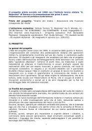 Scarica il progetto pilota realizzato con l'Istituto Majorana di Genova