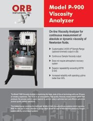 Model P-900 Viscosity Analyzer - OrbInstruments.com