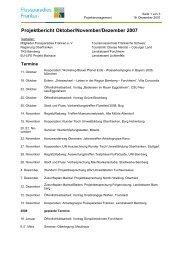 Projektbericht Oktober/November/Dezember 2007 - Flussparadies ...