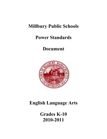 ELA Power Standards.pdf - Millbury Public Schools Community Portal