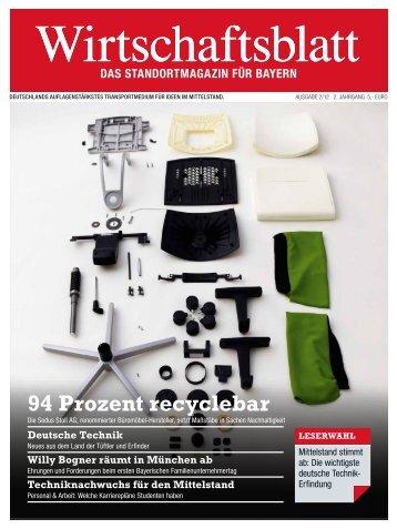 Recyclebarem magazine for Zimmer 94 prozent