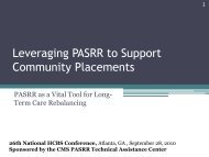 PASRR - National Association of States United for Aging and ...