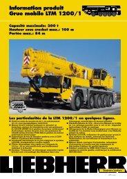 Information produit Grue mobile LTM 1200/1 Capacité maximale