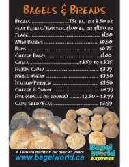 MENU - Bagel World