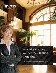 "Analytics that help you see the situation more clearly."" "" - Ideas"