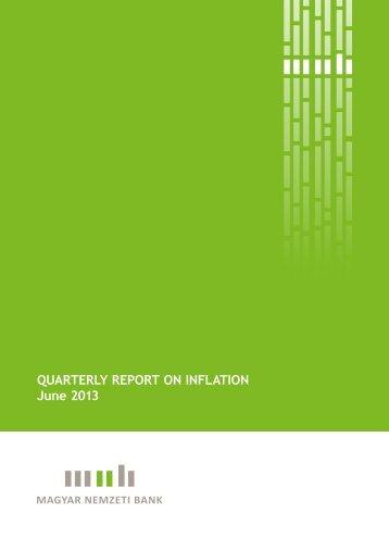 Quarterly report on InflatIon June 2013 - Magyar Nemzeti Bank