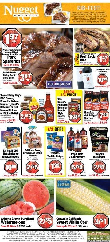 3/$1 2/$5 - Nugget Market
