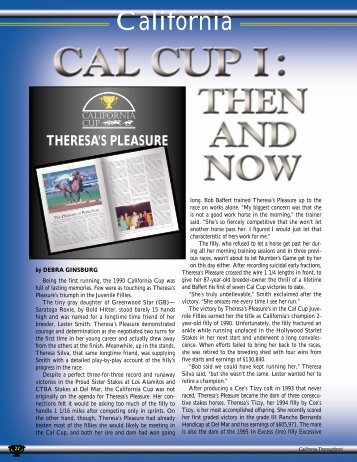 Theresa's Pleasure - California Thoroughbred Breeders Association