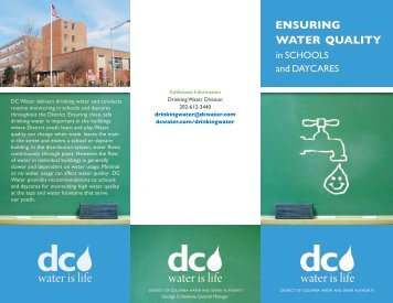 Water Quality In Schools And Daycares - DC Water