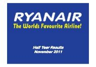 H1 Results - 30 Sept 2011 [Compatibility Mode] - Ryanair