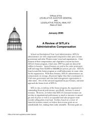 A Review of SITLA's Administrative Compensation - Utah State ...