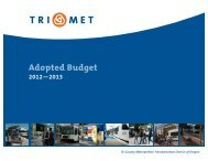 Adopted Budget FY12-13 - TriMet