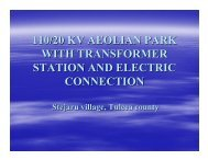 110/20 kv aeolian park with transformer station and electric connection