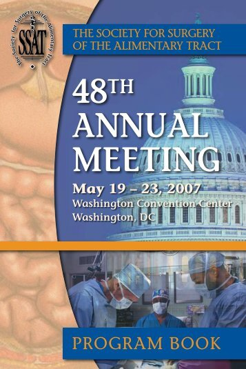 48th AnnuAl Meeting - Society for Surgery of the Alimentary Tract