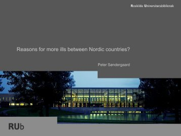 Reasons for more ills between Nordic countries?