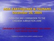 ASIA EARTHQUAKE & TSUNAMI December 26, 2004