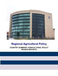 sadc regional agricultural policy - Southern African Development ...