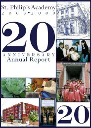 St. Philip's Academy Annual Report
