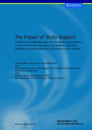 The Impact of Study Support - Digital Education Resource Archive ...